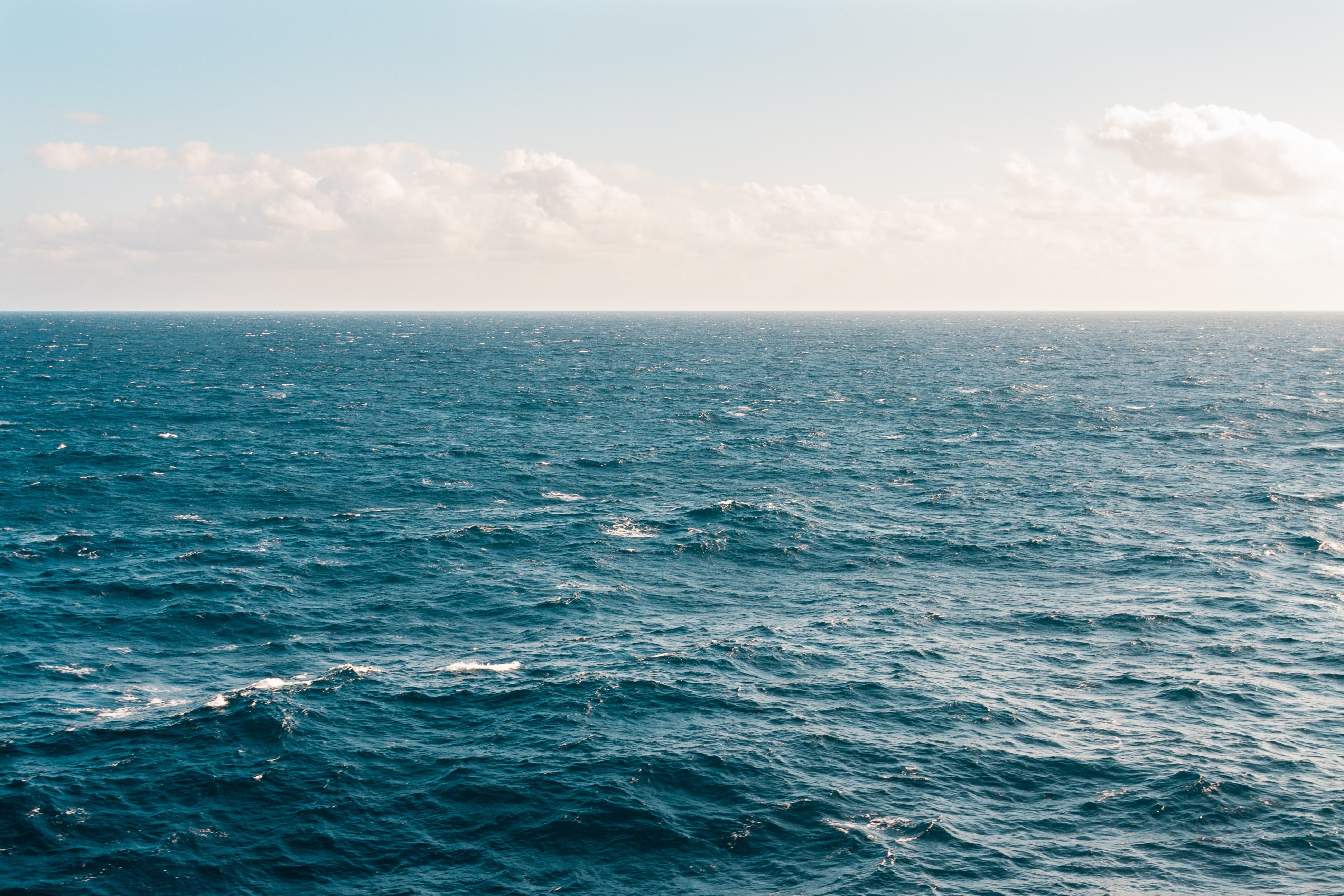 Ocean Waves And Sunny Sky