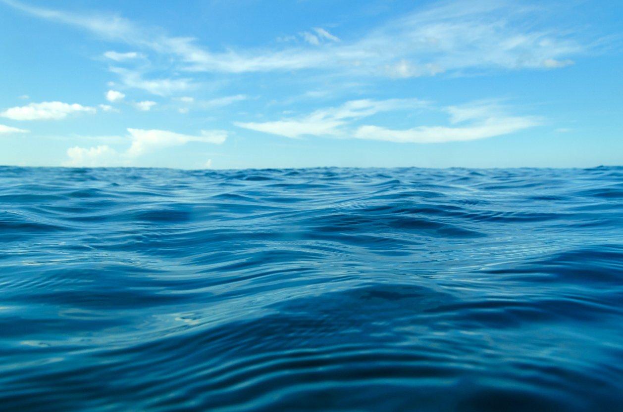 ocean waves with blue sky