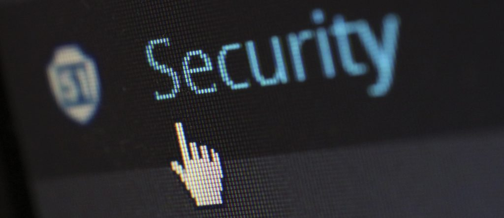 Closeup of Security on Computer Screen with Cursor